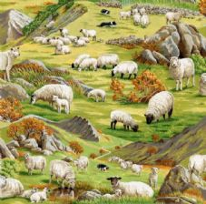 Nutex In the country  Fabric 104 - sheep